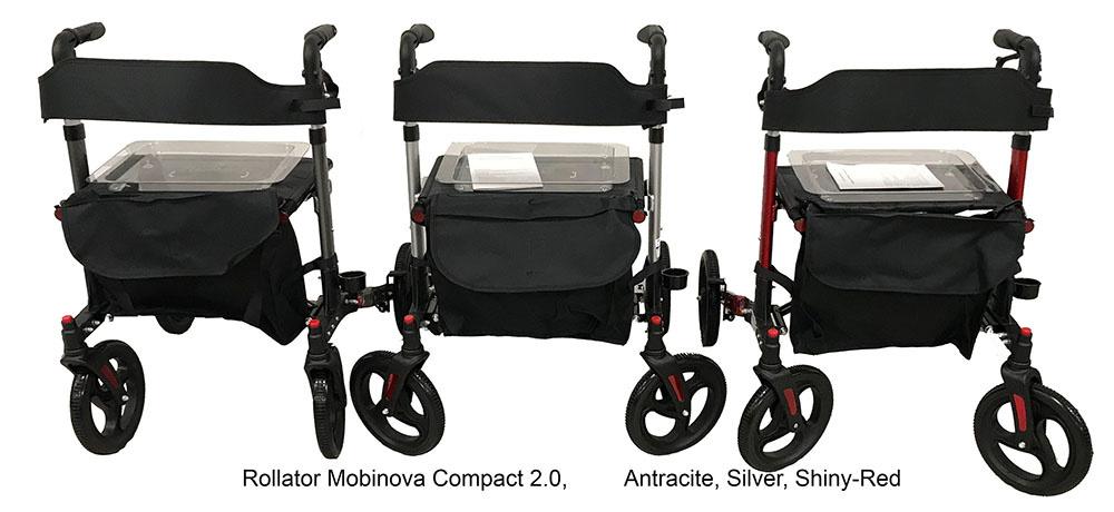 mobinova Compact 2.0 rollator, 3 kleuren