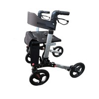 Rollator Compact 2.0, lightweight, double fold, including travel bag