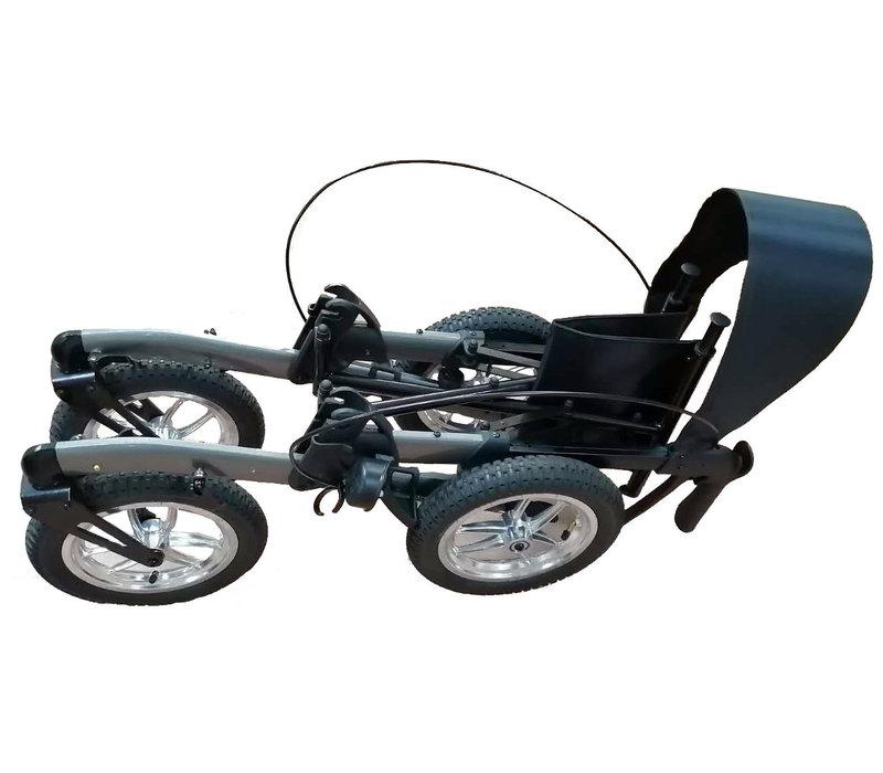 Mobinova Outdoor Flex, klein opvouwbare rollator, lichtgewicht, 4 luchtbanden