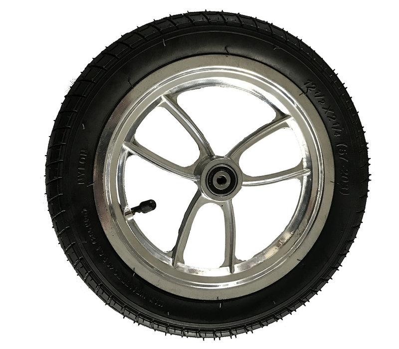 Compleet wiel voor rollator Mobinova Outdoor Flex. 12,5 Inch
