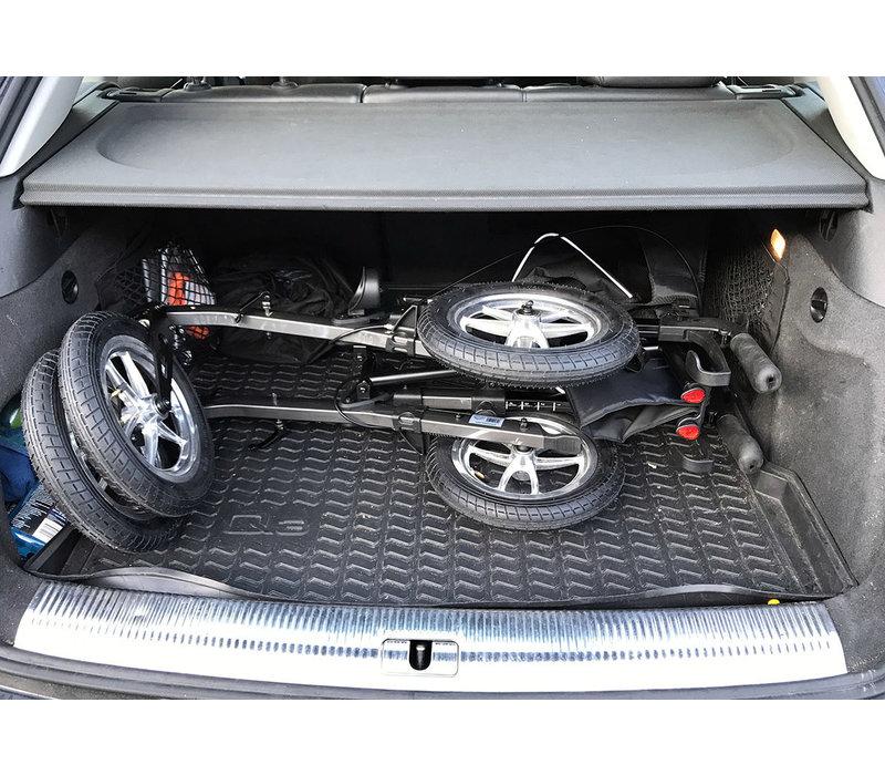 Rollator Mobinova Outdoor Flex, lightweight stable small folding frame, 4 pneumatic tires