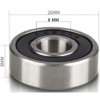 Set of 2 ball bearings (type 6000 RS), suitable for rollator and wheelchair wheels