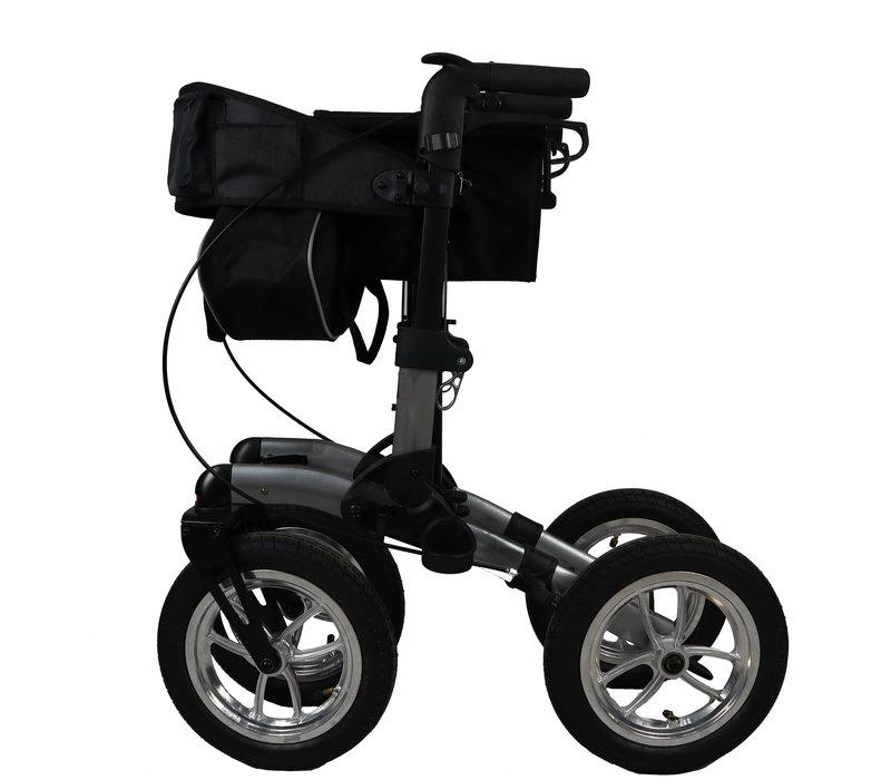 Rollator Mobinova Outdoor Flex2.0, lightweight stable small folding frame, 4 pneumatic tires
