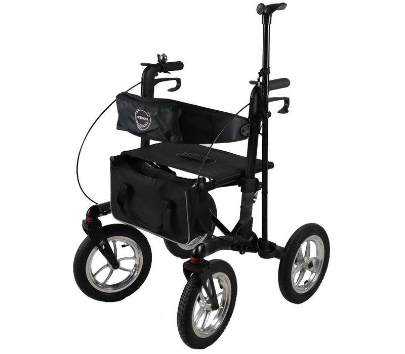 Mobinova Outdoor Flex 2.0 rollator, compact opvouwbaar, 4 luchtbanden