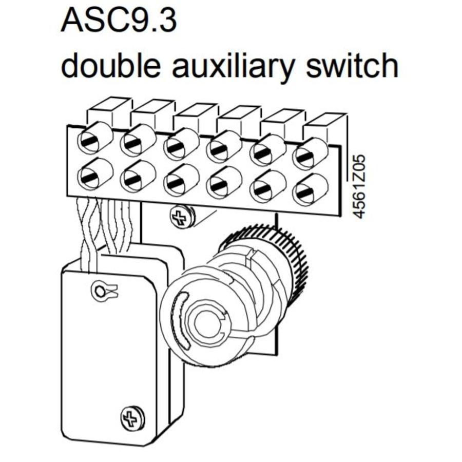 Siemens ASC9.3 dual auxiliary switches for actuator  SKB32 / SKC32, SKD32-2