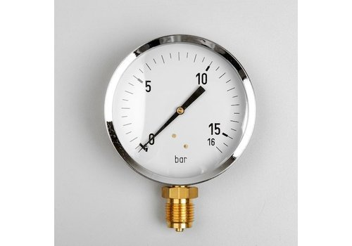 Manometer Gas 0...250 mBar; case 100 mm connection bottom 1/2""