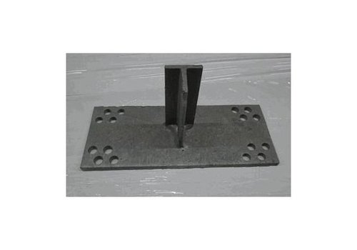 T-console 100 mm for post 160-220 mm dip galvanised