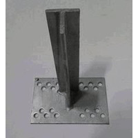 T-console 200 mm for post 40 - 120 mm dip galvanised