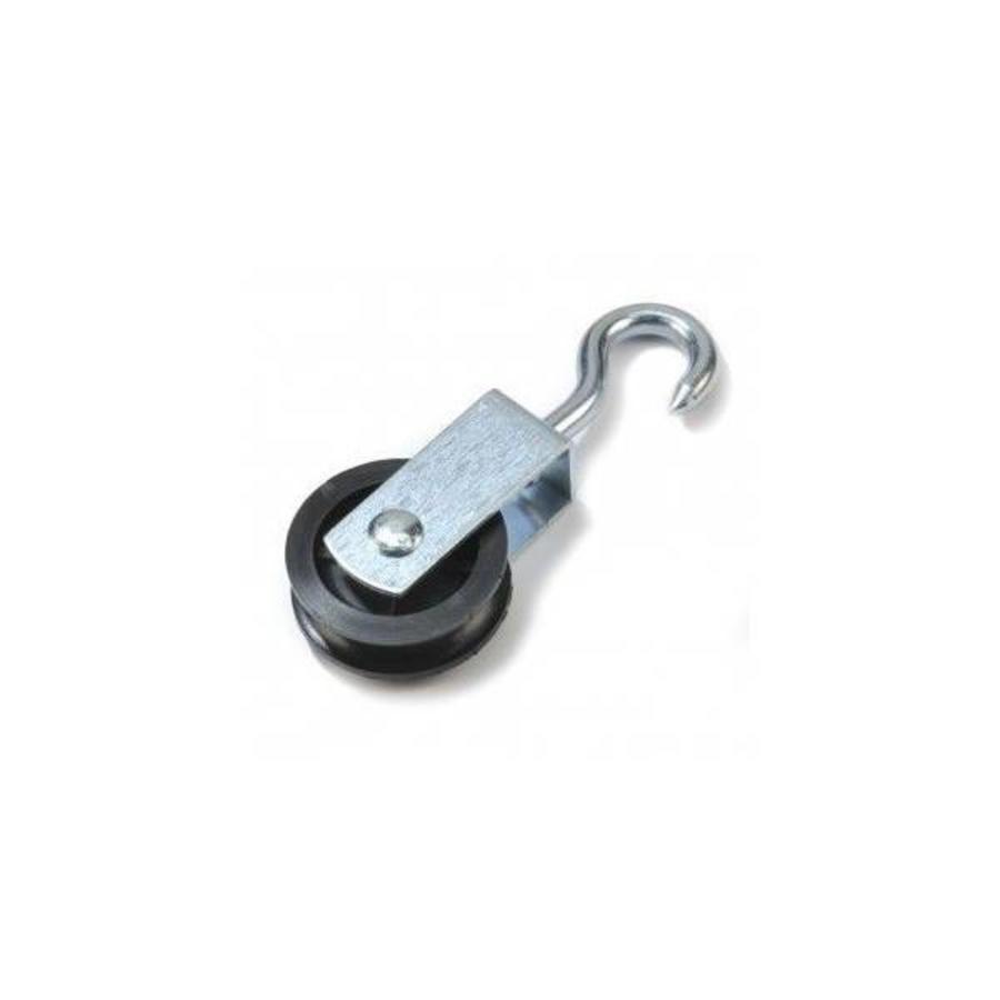 Verzinkte katrol met wartelhaak / diameter schijf 50mm (per 10 stuks).-2