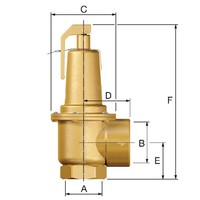 """thumb-Flamco Prescor S Sicherheitsventil 3 Bar 1.1/4"""" - 2"""" bi-2"""