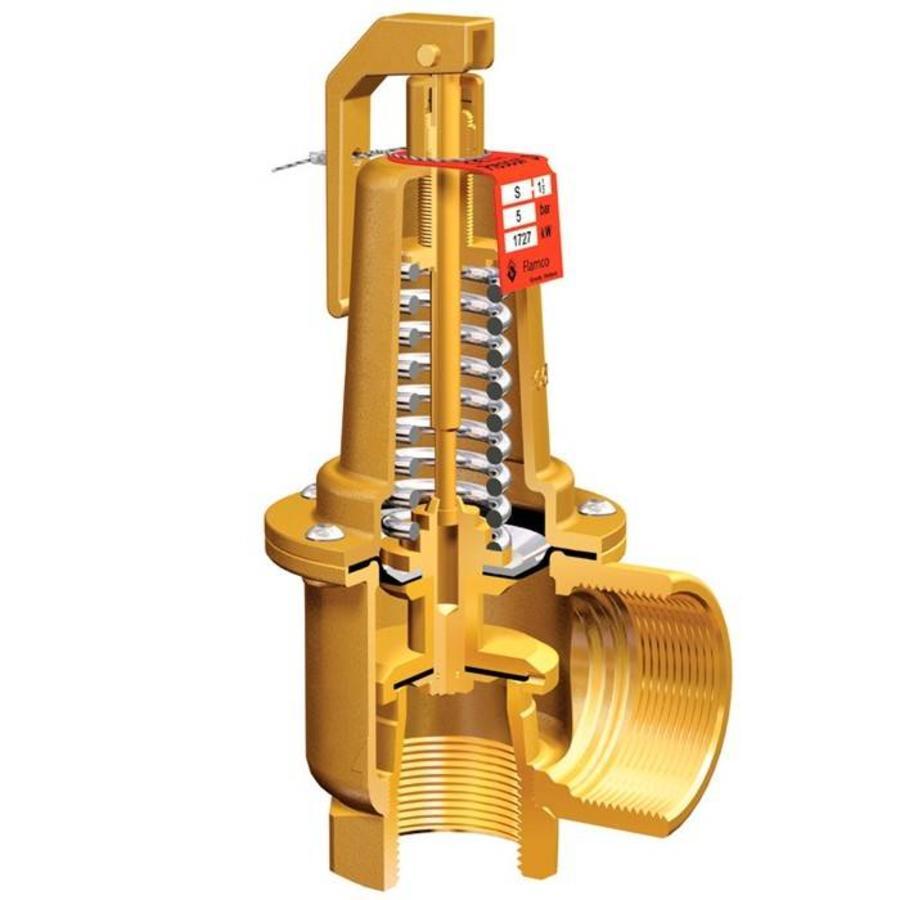 "Flamco Prescor S safety valve 3 Bar 1.1/4"" t/m 2""-3"