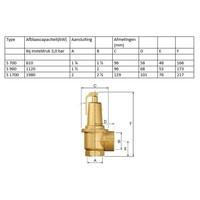 "thumb-Flamco Prescor S safety valve 3 Bar 1.1/4"" t/m 2""-4"