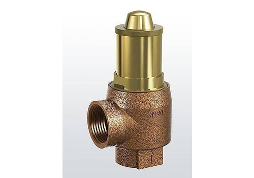 Brass safety valve for heating systems type 651