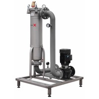 thumb-Sotex slib stream filter with Grundfos pump and pipework on frame SFU+-2