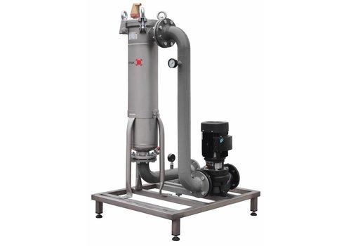 Sotex Teilstromfilter mit Pumpe und Leitungen auf Stahlrahmen SFU+
