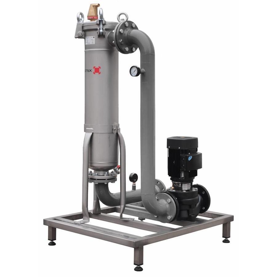 Sotex Teilstromfilter mit Grundfos Pumpe und Leitungen auf Stahlrahmen SFU+-2