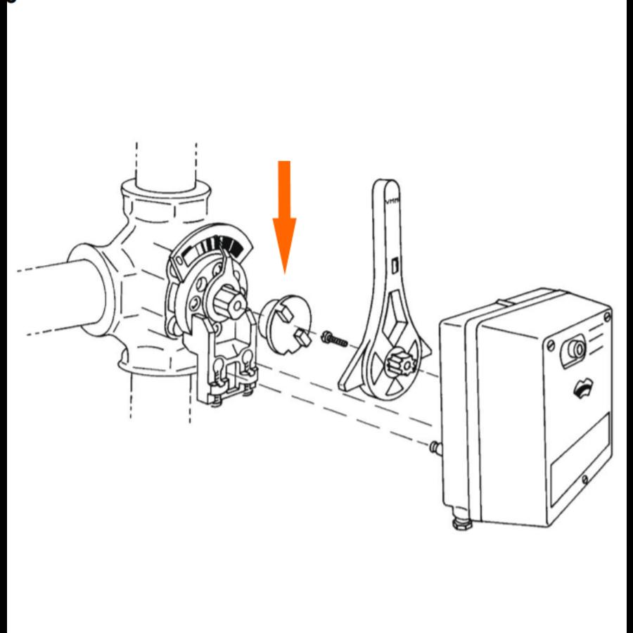 Honeywell/ Centra koppelbus voor servomotor VMM-4