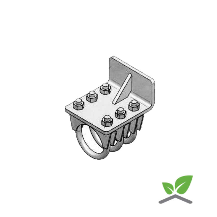 Endanschlag Rohrrail ''Extra stark'' - Komplettset  (Preis auf Anfrage)-1