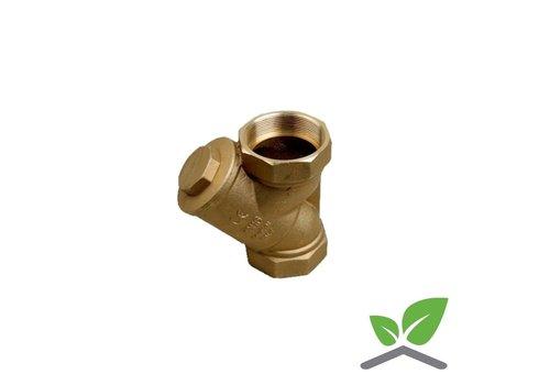 Strainer brass housing, stainless filter
