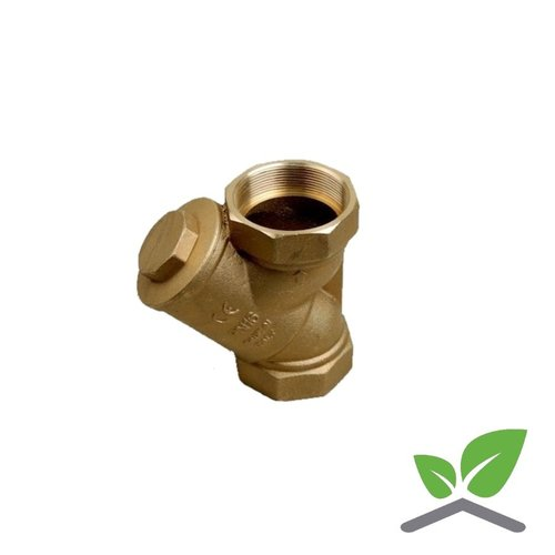 Strainer brass housing, stainless filter