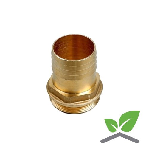 Brass hose connector male with hex
