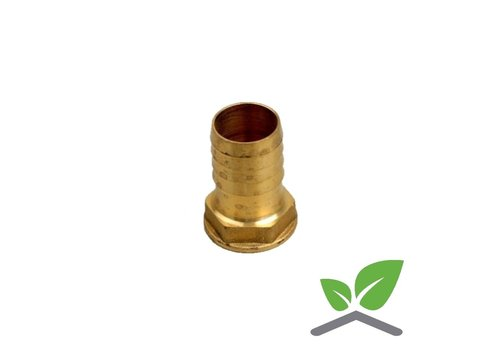 Brass hose connector female with hex