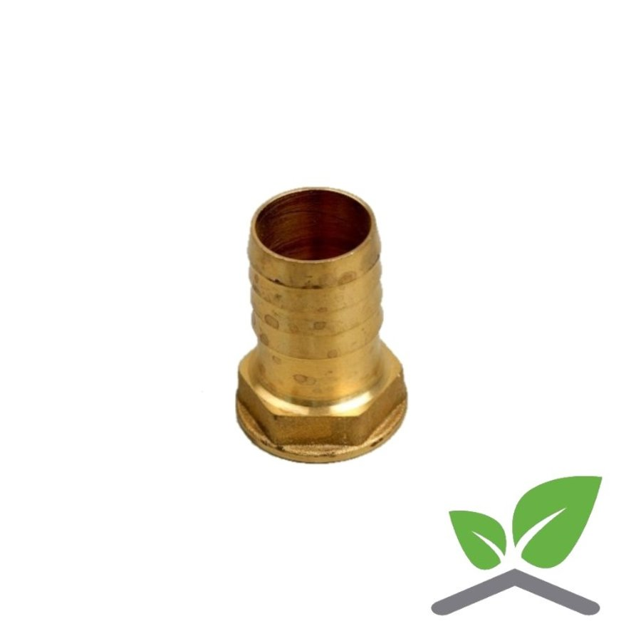 """Brass hose connector female with hex for hose 3/4"""" – 1.1/4""""-1"""