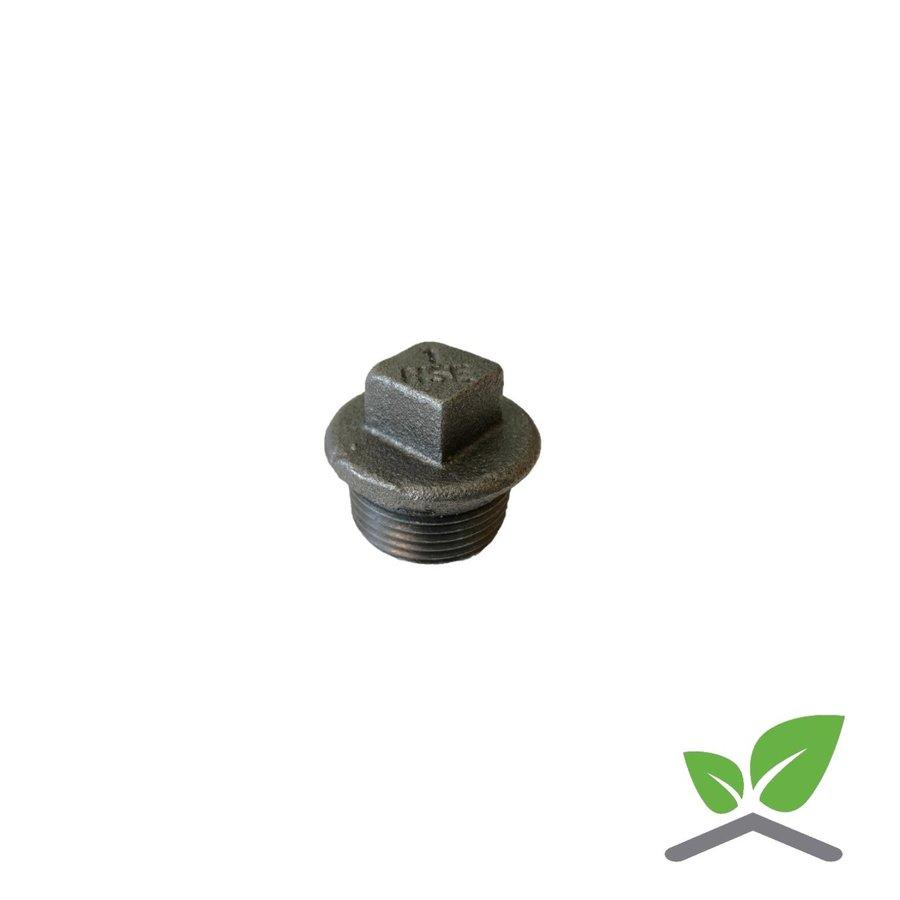 """Fitting plug no. 290 black 1/4"""" - 2"""" male x square-1"""