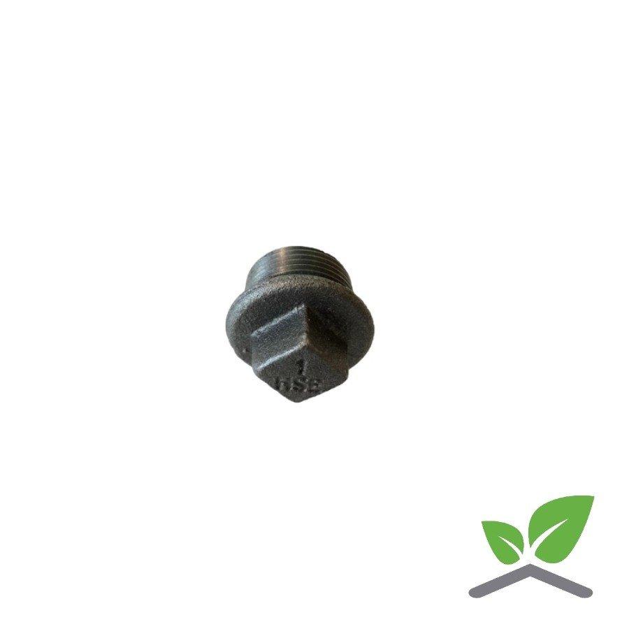 """Fitting plug no. 290 black 1/4"""" - 2"""" male x square-2"""