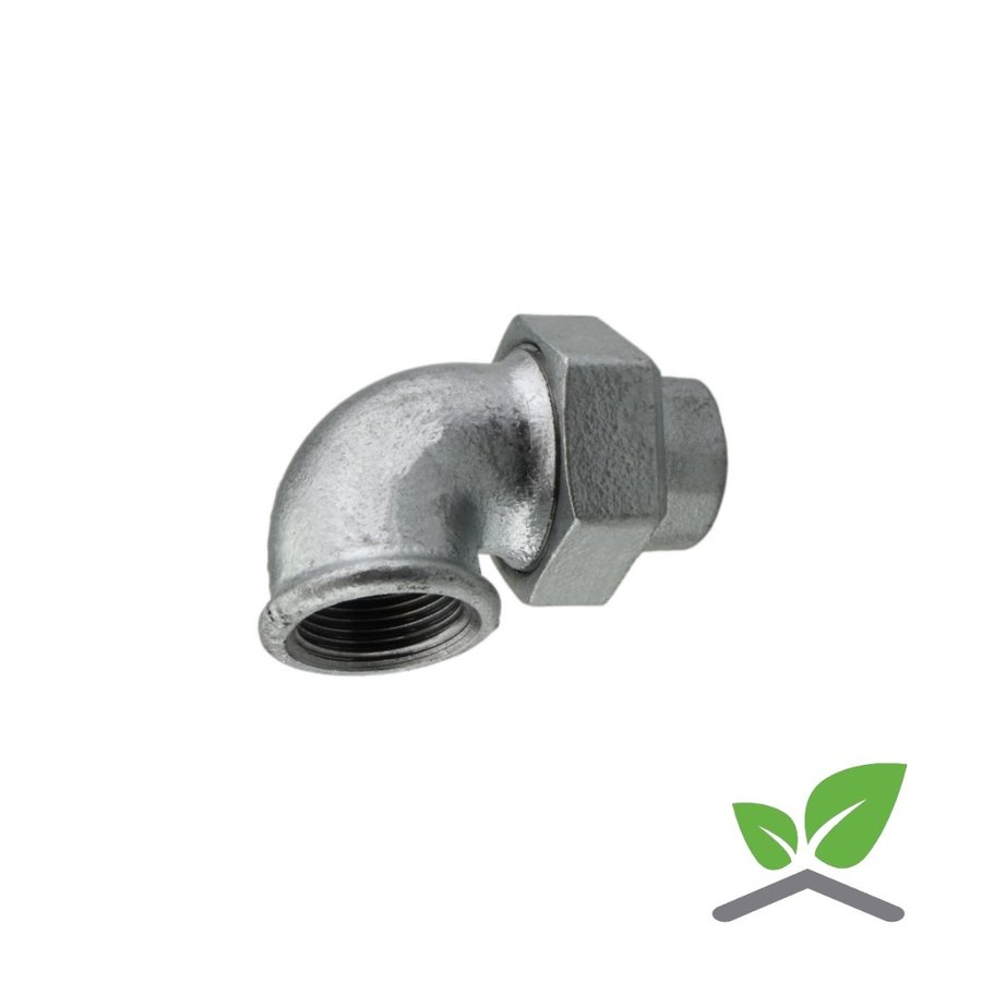 """Fitting elbow coupling galvanised no. 96 - 1/2""""-2"""" female x female-1"""