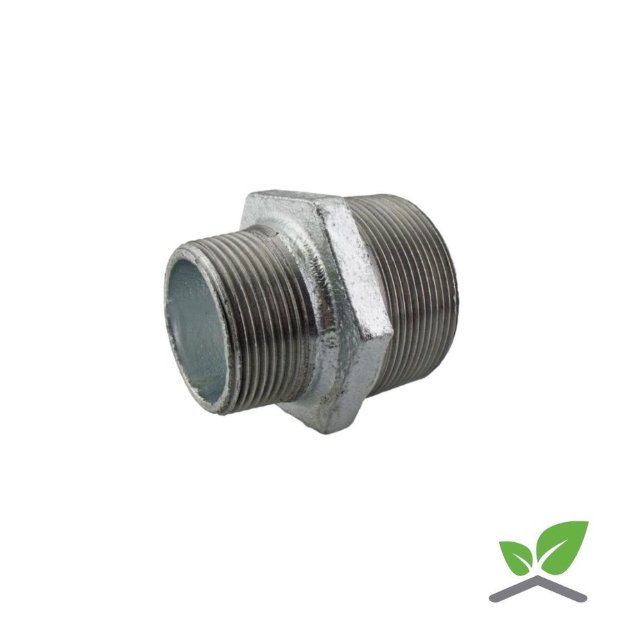 """Fitting reducing nipple galvanised no. 245 - 1/4"""" - 2"""" male x male-1"""
