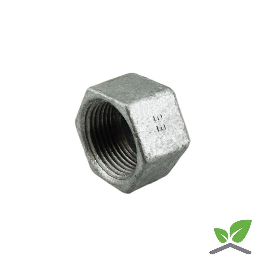 """Fitting cap galvanised no. 300 - 3/8"""" - 2"""" female / hex-1"""
