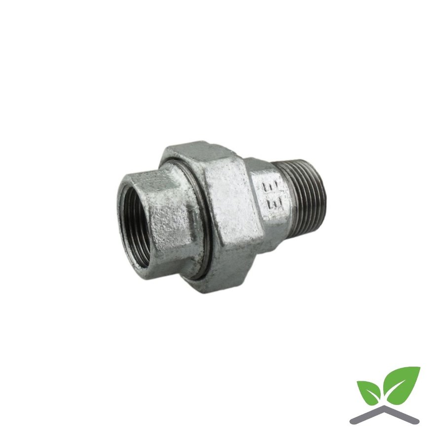 """Fitting coupling galvanised no. 341 - female x male 1/4"""" - 2""""-1"""