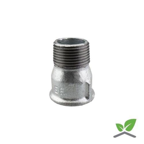 Fitting socket nipple no. 529a galvanised