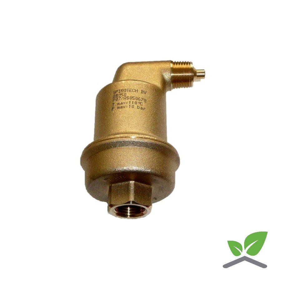 """Spirotop automatic air vent brass 1/2""""-1"""