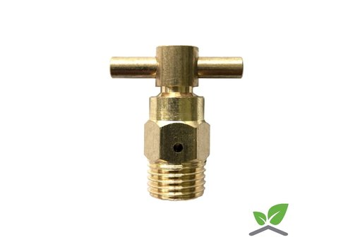 Air vent brass T-model with ball 1/4 ""