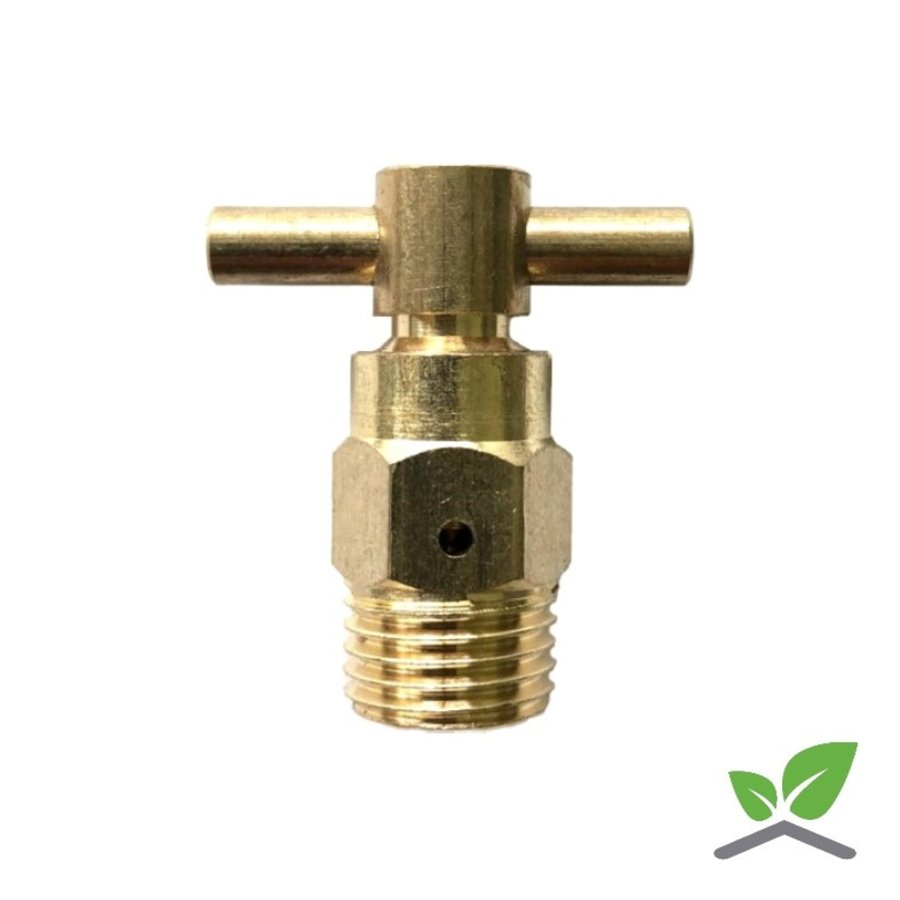 "Air vent brass T-model with ball 1/4 ""-1"