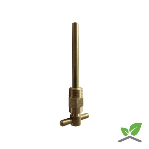 Air vent brass T-model with pipe 1/4 ""