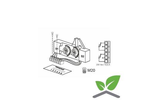 Hilfsschalter 230 V, 10 A für Stellantriebe ML6420/ML6425