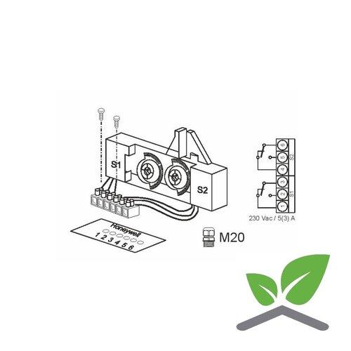 Hilfsschalter 230 V, 10 A,fúr Stellantriebe ML6420/ML6425