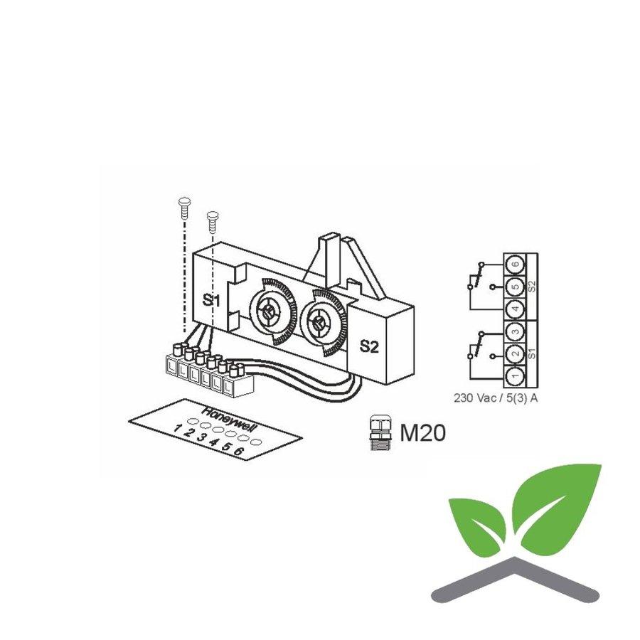 Hilfsschalter 230 V, 10 A für Stellantriebe ML6420/ML6425-1