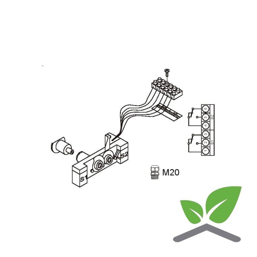 Honeywell eindschakelaar voor servomotor ML6421/ML7421-1