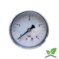 """Manometer 0...4 Bar; Gehäuse 60 mm Anschluss 1/4"""" hinten"""