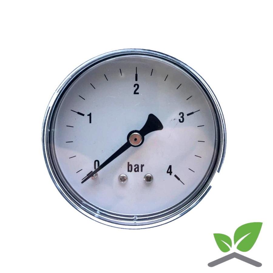 """Manometer 0...4 Bar; kast 60 mm aansluiting 1/4"""" achter-1"""