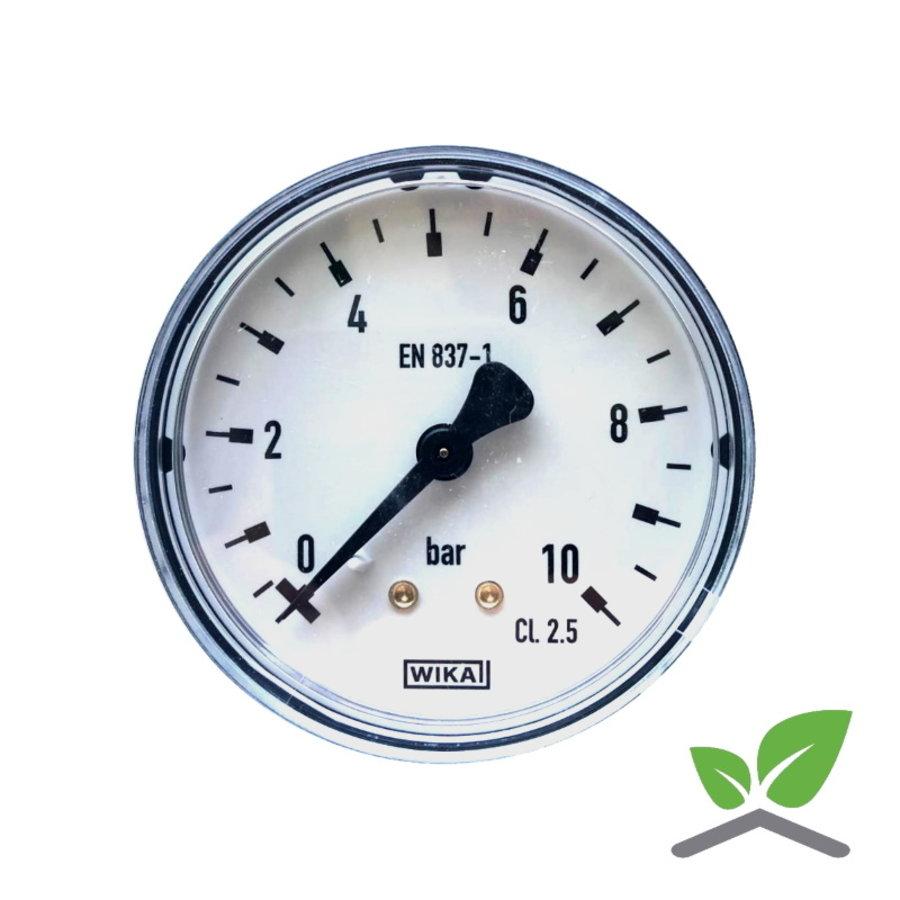 """Manometer 0...10 Bar; kast 60 mm aansluiting 1/4"""" achter-1"""
