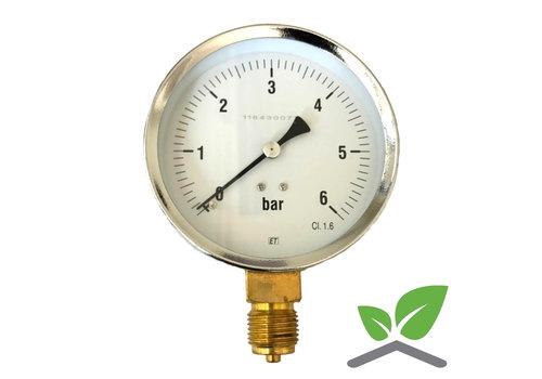 """Manometer 0...6 Bar; Gehäuse 100 mm Anschluss 1/2"""" unten"""