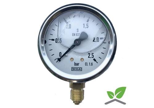 "Manometer Glycerin 0...2,5 Bar; case 60 mm connection bottom 1/4"""