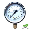 """Manometer 0...10 Bar; kast 60 mm aansluiting 1/4"""" onder  Glycerine gevuld"""