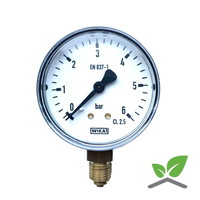 "Manometer 0...6 Bar; kast 60 mm aansluiting 1/4"" onder"