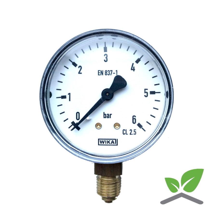 """Manometer 0...6 Bar; Gehäuse 60 mm Anschluss 1/4"""" unten-1"""